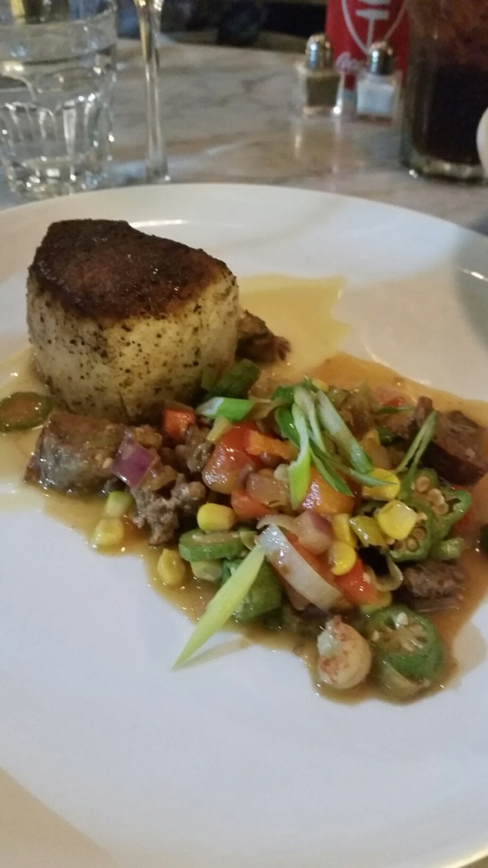 Swordfish with Cajun Succotash