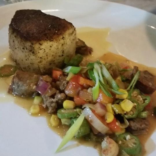 Swordfish with Cajun Succotash